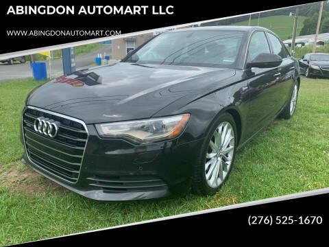 2013 Audi A6 for sale at ABINGDON AUTOMART LLC in Abingdon VA