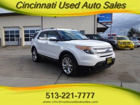 2013 Ford Explorer for sale at Cincinnati Used Auto Sales in Cincinnati OH