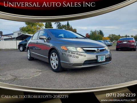 2008 Honda Civic for sale at Universal Auto Sales Inc in Salem OR