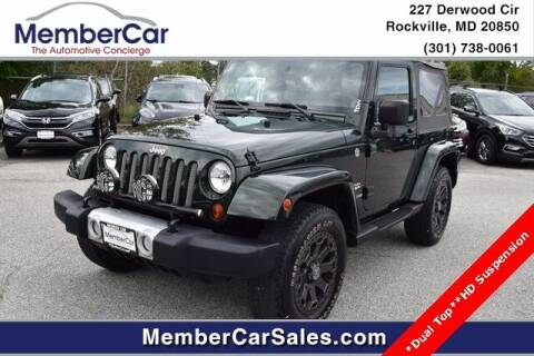2010 Jeep Wrangler for sale at MemberCar in Rockville MD