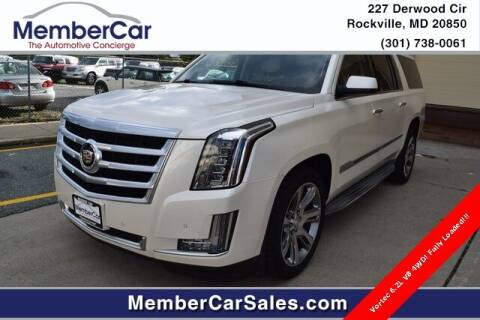 2015 Cadillac Escalade ESV for sale at MemberCar in Rockville MD