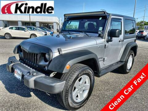2017 Jeep Wrangler for sale at Kindle Auto Plaza in Middle Township NJ