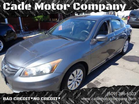 2011 Honda Accord for sale at Cade Motor Company in Lawrenceville NJ