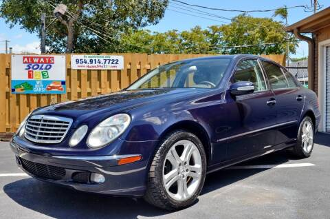 2006 Mercedes-Benz E-Class for sale at ALWAYSSOLD123 INC in Fort Lauderdale FL