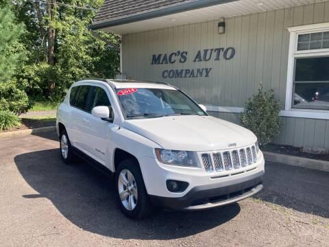 2014 Jeep Compass for sale at MAC'S AUTO COMPANY in Nanticoke PA