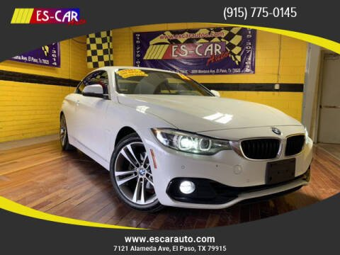 2018 BMW 4 Series for sale at Escar Auto - 9809 Montana Ave Lot in El Paso TX