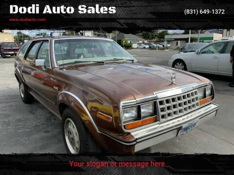 1984 AMC Eagle 30 for sale at Dodi Auto Sales in Monterey CA