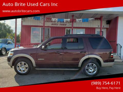 2008 Ford Explorer for sale at Auto Brite Used Cars Inc in Saginaw MI
