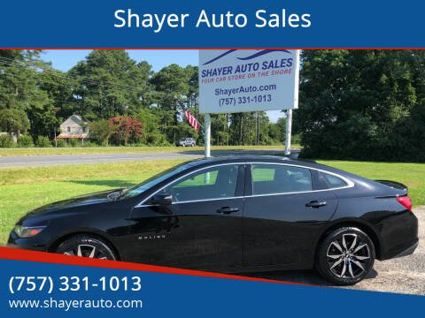 2018 Chevrolet Malibu for sale at Shayer Auto Sales in Cape Charles VA