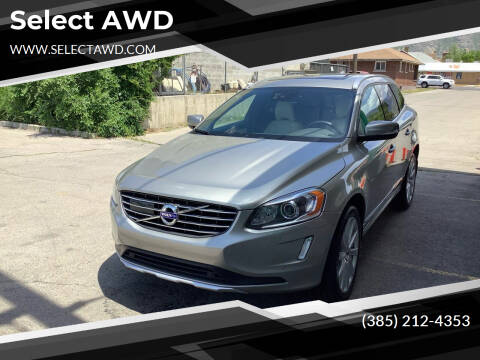 2015 Volvo XC60 for sale at Select AWD in Provo UT