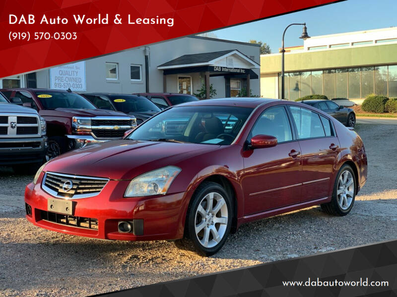 2007 Nissan Maxima for sale at DAB Auto World & Leasing in Wake Forest NC