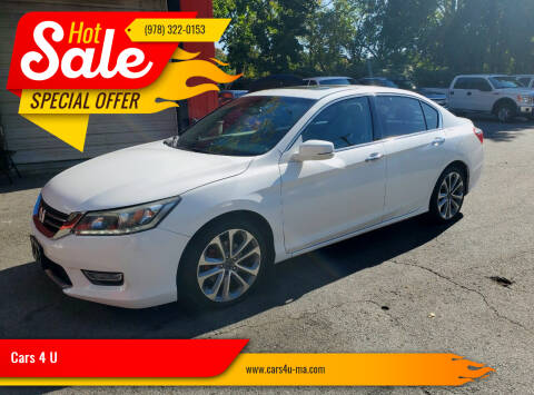 2013 Honda Accord for sale at Cars 4 U in Haverhill MA