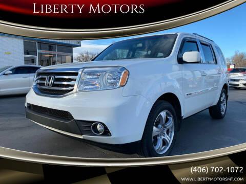 2013 Honda Pilot for sale at Liberty Motors in Billings MT