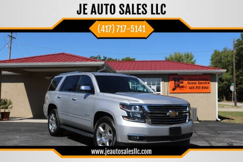 2015 Chevrolet Tahoe for sale at JE AUTO SALES LLC in Webb City MO