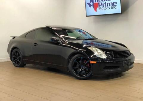 2006 Infiniti G35 for sale at Texas Prime Motors in Houston TX