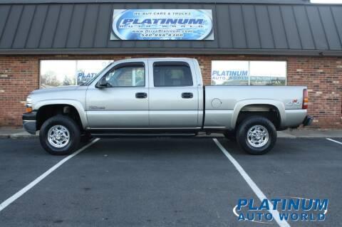 2002 Chevrolet Silverado 2500HD for sale at Platinum Auto World in Fredericksburg VA