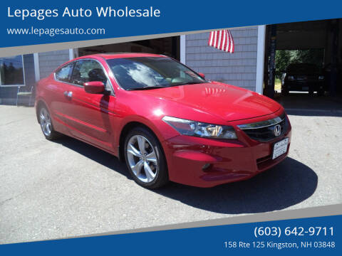 2011 Honda Accord for sale at Lepages Auto Wholesale in Kingston NH