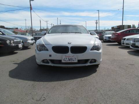 2007 BMW 6 Series for sale at Dealer Finance Auto Center LLC in Sacramento CA
