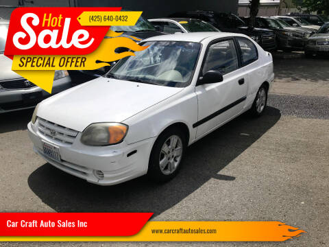 2004 Hyundai Accent for sale at Car Craft Auto Sales Inc in Lynnwood WA