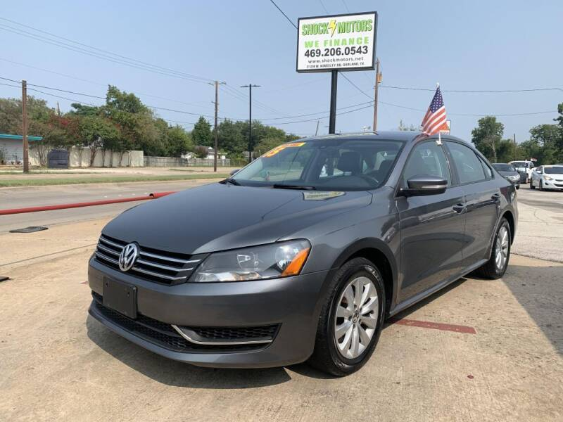 2015 Volkswagen Passat for sale at Shock Motors in Garland TX