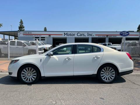 2013 Lincoln MKS for sale at MOTOR CARS INC in Tulare CA