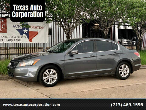 2008 Honda Accord for sale at Texas Auto Corporation in Houston TX