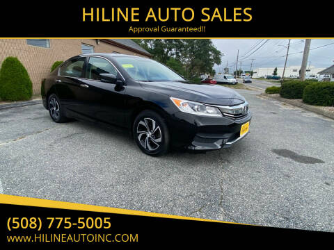 2016 Honda Accord for sale at HILINE AUTO SALES in Hyannis MA