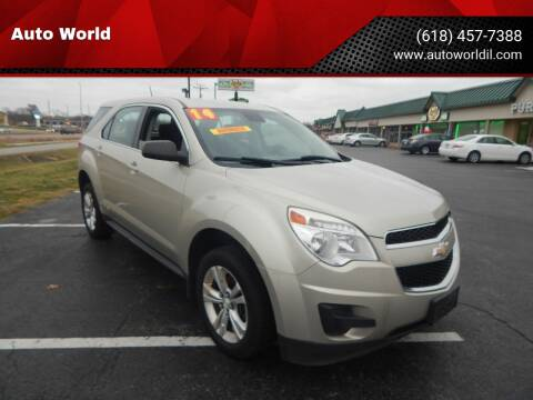 2014 Chevrolet Equinox for sale at Auto World in Carbondale IL