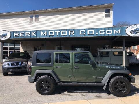 2009 Jeep Wrangler Unlimited for sale at Berk Motor Co in Whitehall PA