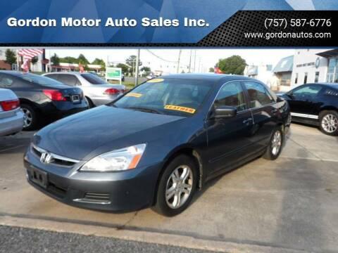 2007 Honda Accord for sale at Gordon Motor Auto Sales Inc. in Norfolk VA