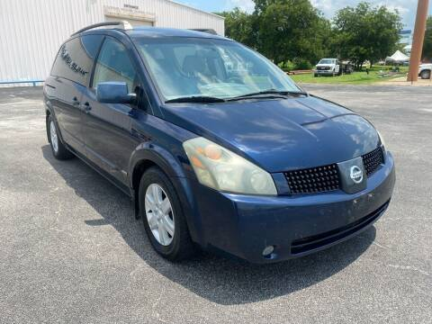 2006 Nissan Quest for sale at MARLER USED CARS in Gainesville TX