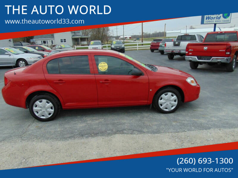 2008 Chevrolet Cobalt for sale at THE AUTO WORLD in Churubusco IN