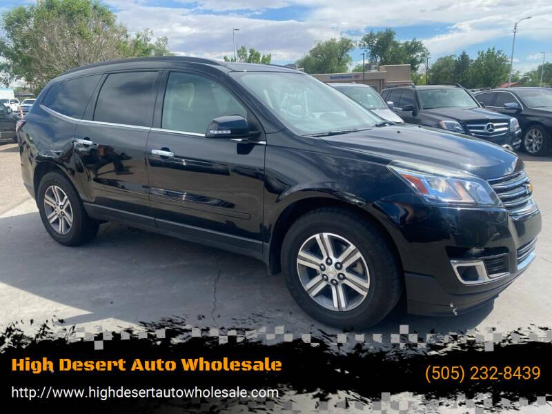 2016 Chevrolet Traverse for sale at High Desert Auto Wholesale in Albuquerque NM