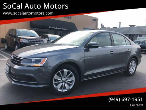 2015 Volkswagen Jetta for sale at SoCal Auto Motors in Costa Mesa CA
