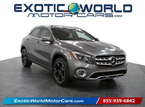 2018 Mercedes-Benz GLA for sale at Exotic World Motor Cars in Addison TX