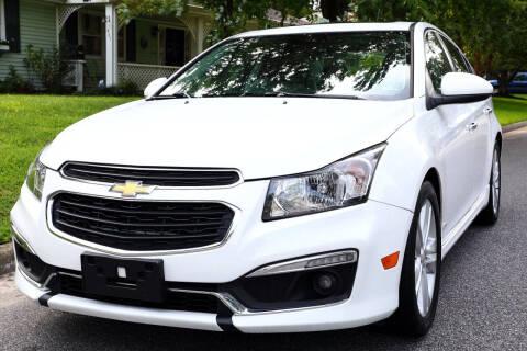 2015 Chevrolet Cruze for sale at Prime Auto Sales LLC in Virginia Beach VA