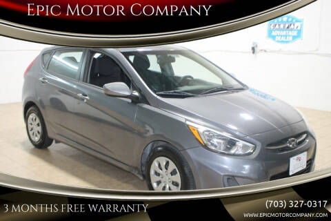 2016 Hyundai Accent for sale at Epic Motor Company in Chantilly VA