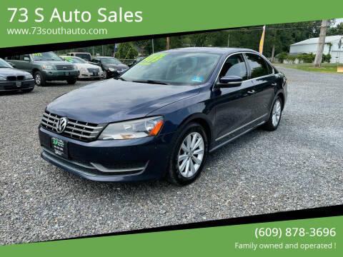 2013 Volkswagen Passat for sale at 73 S Auto Sales in Hammonton NJ