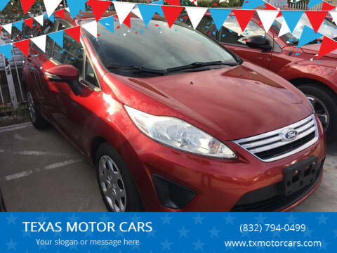 2013 Ford Fiesta for sale at TEXAS MOTOR CARS in Houston TX