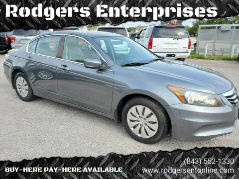 2012 Honda Accord for sale at Rodgers Enterprises in North Charleston SC