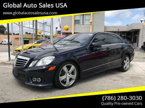 2010 Mercedes-Benz E-Class for sale at Global Auto Sales USA in Miami FL