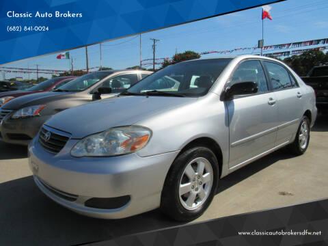 2005 Toyota Corolla for sale at Classic Auto Brokers in Haltom City TX
