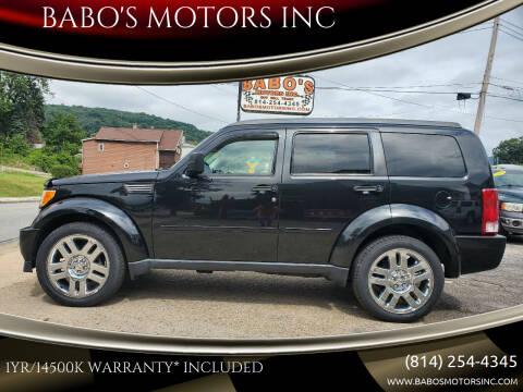 2011 Dodge Nitro for sale at BABO'S MOTORS INC in Johnstown PA