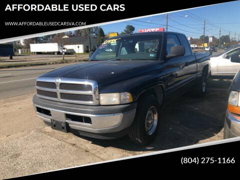 2000 Dodge Ram Pickup 1500 for sale at AFFORDABLE USED CARS in Richmond VA