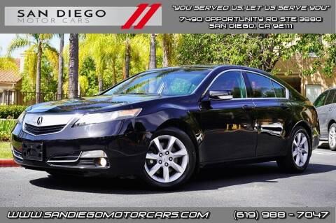 2012 Acura TL for sale at San Diego Motor Cars LLC in San Diego CA