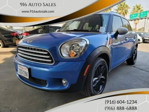 2014 MINI Countryman for sale at 916 Auto Sales in Sacramento CA