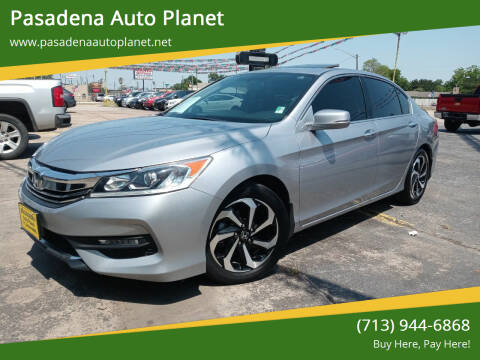 2016 Honda Accord for sale at Pasadena Auto Planet in Houston TX