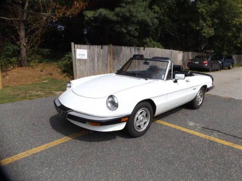 1989 Alfa Romeo Spider for sale at Wayland Automotive in Wayland MA