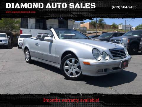 2000 Mercedes-Benz CLK for sale at DIAMOND AUTO SALES in El Cajon CA