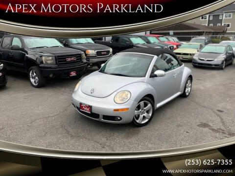 2006 Volkswagen New Beetle Convertible for sale at Apex Motors Parkland in Tacoma WA